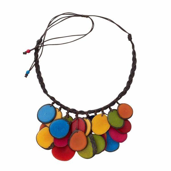 Authentic Fair Trade Necklace - Rainbow Rain Necklace
