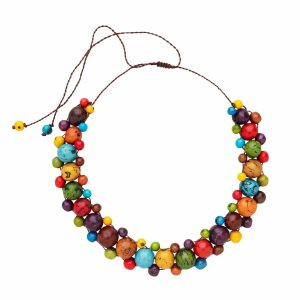 Authentic Fair Trade Necklace - Tropical Fruits Necklace