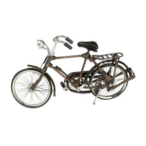 Black And Bronze Metal Bicycle - Bicycle Statue