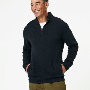Men's Charcoal Heather 1/4 Zip Pullover L