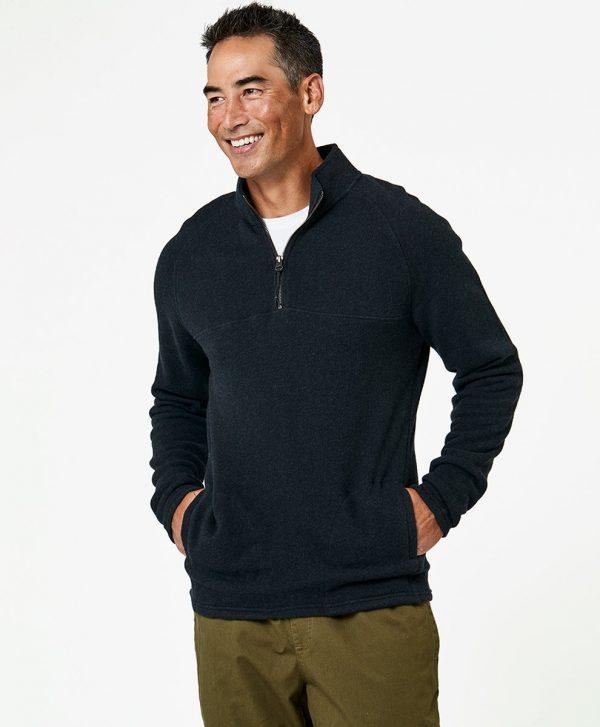 Men's Charcoal Heather 1/4 Zip Pullover S