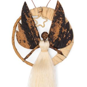 Natural Banana Fiber And Sisal Ornament - Moon Angel Ornament