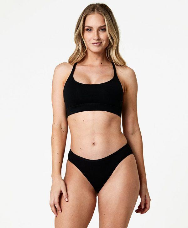 Women's Black Classic Fit Bikini L