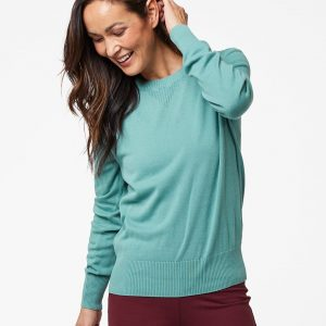 Women's Blue Spruce Sweater Sweatshirt L