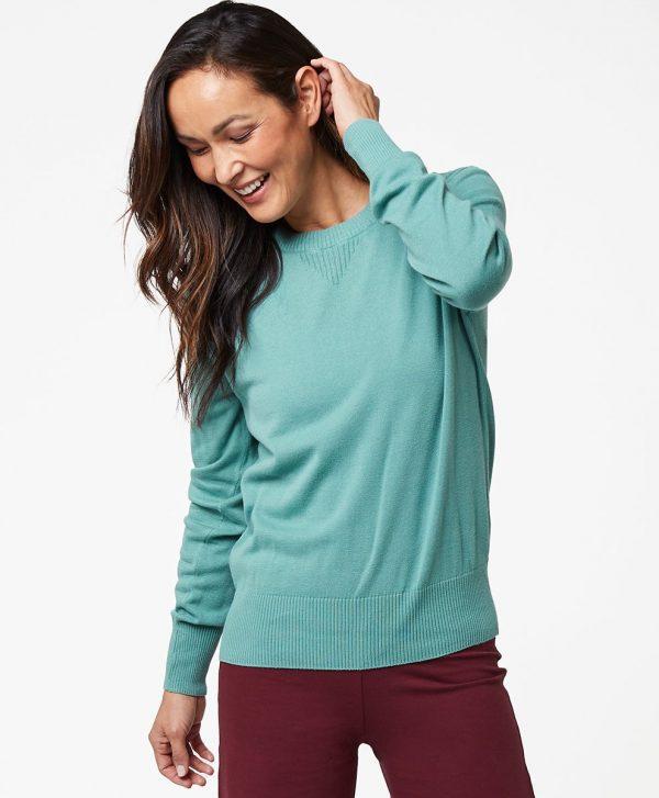 Women's Blue Spruce Sweater Sweatshirt L