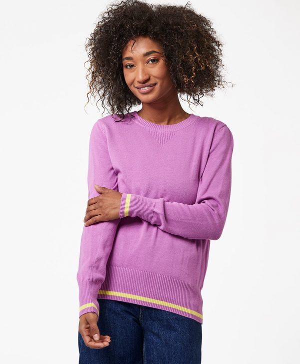 Women's Orchid/Limeade Pop Sweater Sweatshirt S